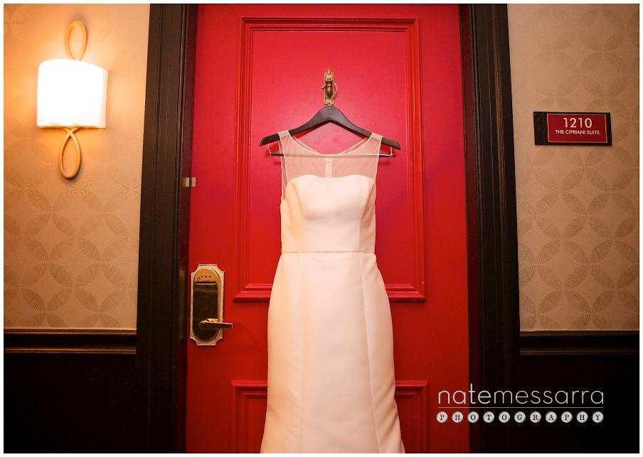 Hotel Icon Wedding Dress Getting Ready