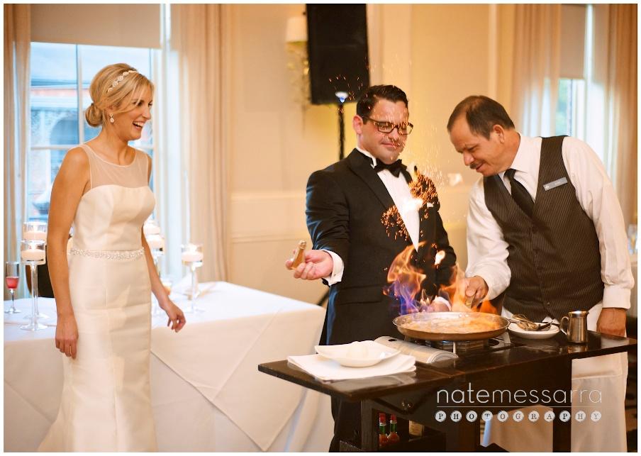 Brennan's of Houston Wedding Banana's Foster