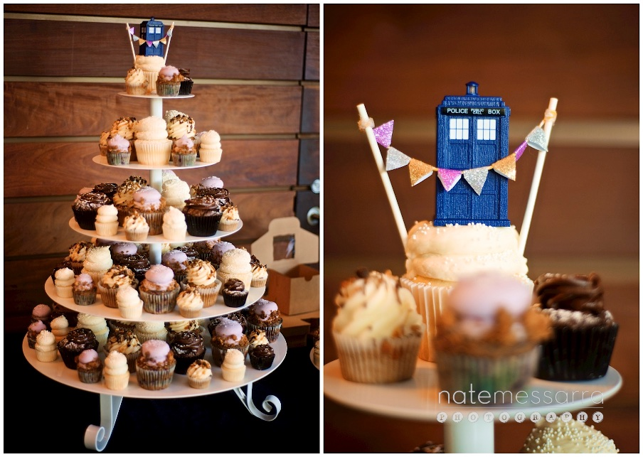 The Grove Wedding Reception in Houston Dr. Who Cupcake Tower