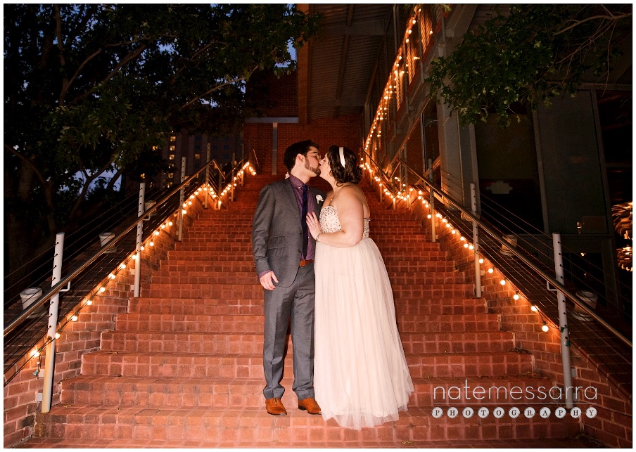 The Grove Wedding Houston Reception Outdoor Night Portrait