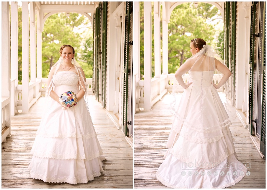 Houston City Hall Wedding Portraits at Sam Houston Park Southern Bride