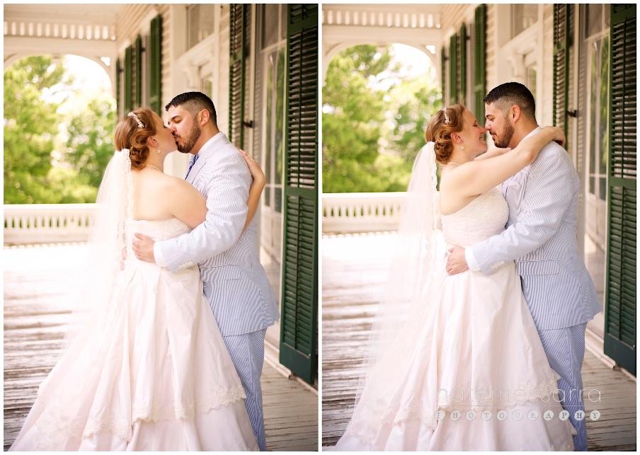 Houston City Hall Wedding Portraits at Sam Houston Park